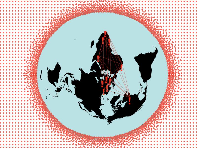 Gesüdete Projektion der Welt